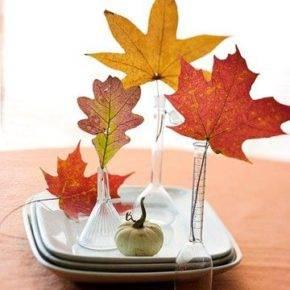 поделки из листьев фото 065