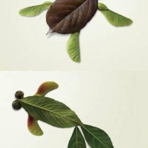 поделки из листьев фото 105