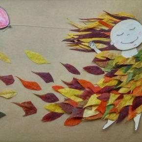 поделки из листьев фото 117