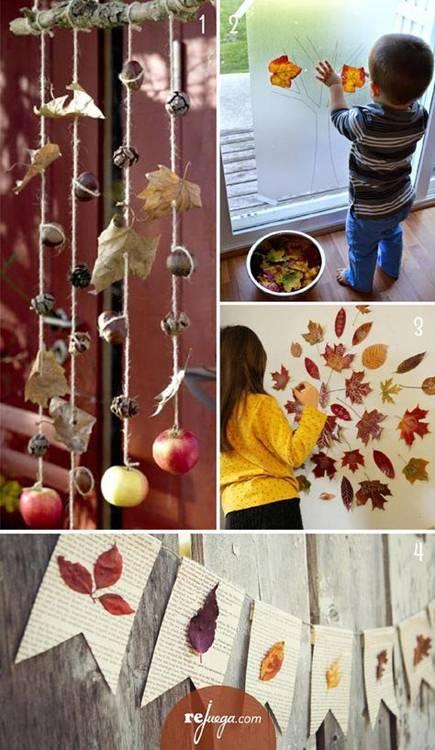 поделки из листьев фото 118