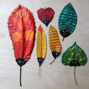 поделки из листьев фото 123