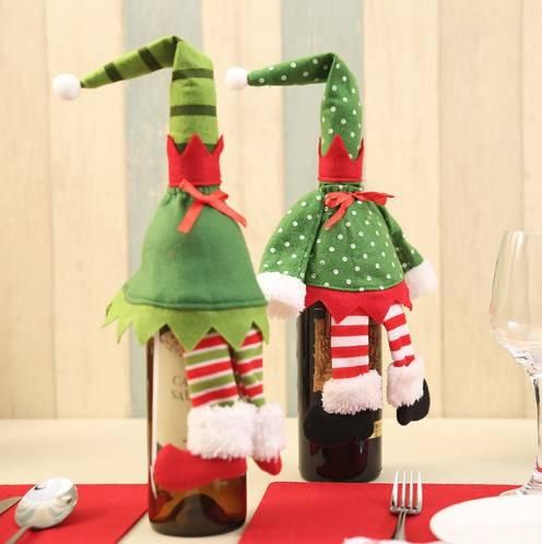 декор бутылок к новому году фото 2