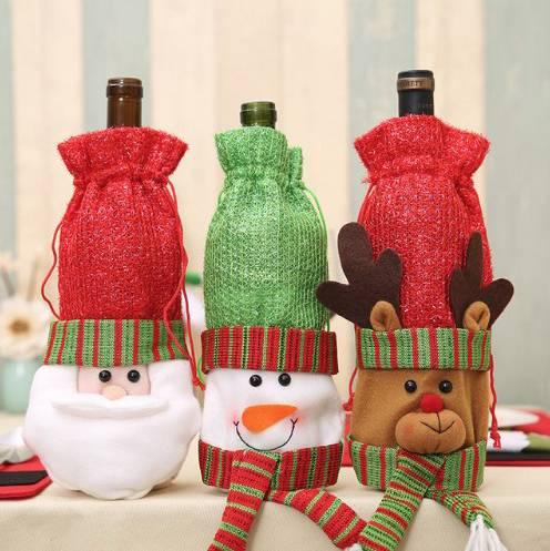 декор бутылок к новому году фото 11