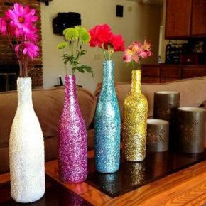 декор бутылок фото 002