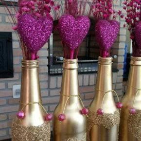 декор бутылок фото 009