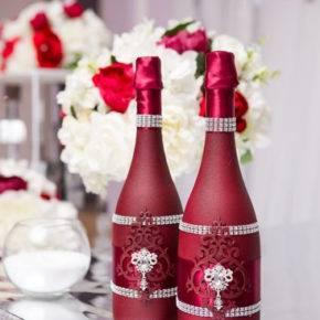 декор бутылок фото 018