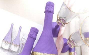 декор бутылок фото 020