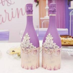 декор бутылок фото 022