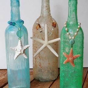 декор бутылок фото 025