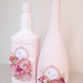 декор бутылок фото 026