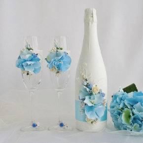 декор бутылок фото 031