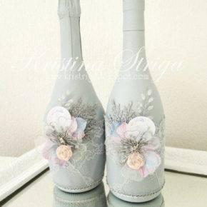 декор бутылок фото 032