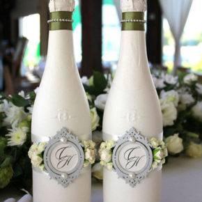 декор бутылок фото 034