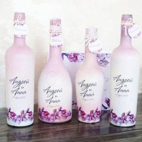 декор бутылок фото 036