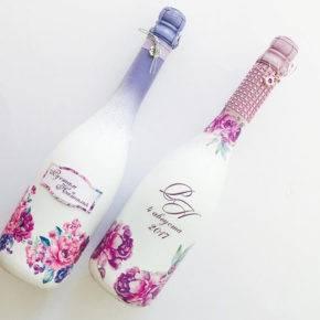 декор бутылок фото 037