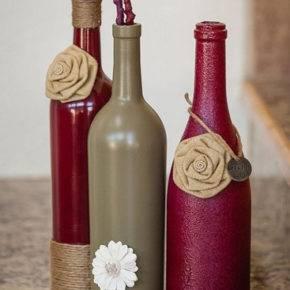 декор бутылок фото 043