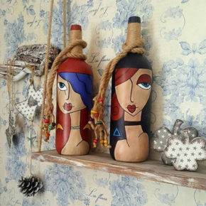 декор бутылок фото 044