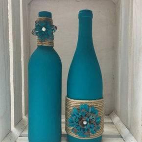 декор бутылок фото 053