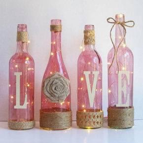 декор бутылок фото 054