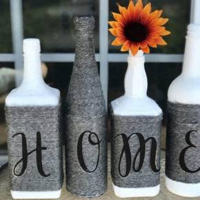 декор бутылок фото 056