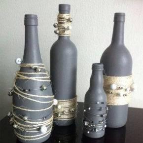 декор бутылок фото 057
