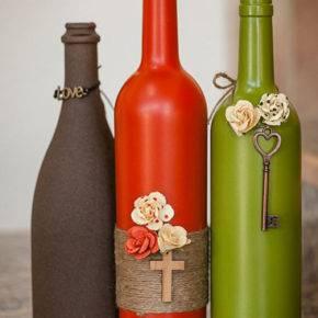декор бутылок фото 058