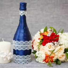 декор бутылок фото 089