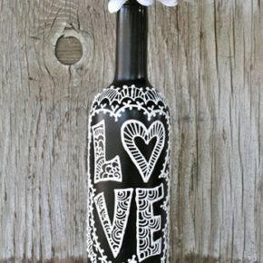 декор бутылок фото 095