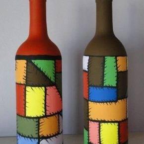 декор бутылок фото 096