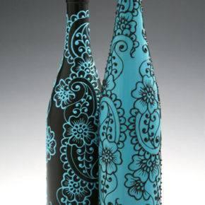 декор бутылок фото 097