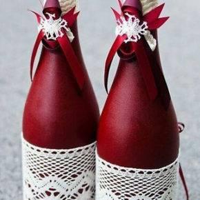 декор бутылок фото 115