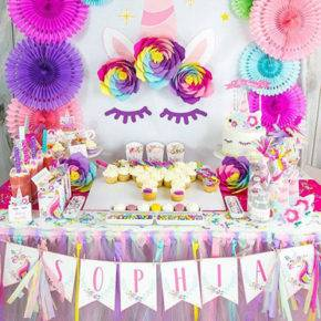 Children's birthday 5 years old unicorns photo 175