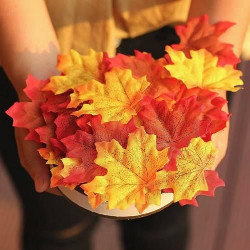 искуственные осенние листья фото 4