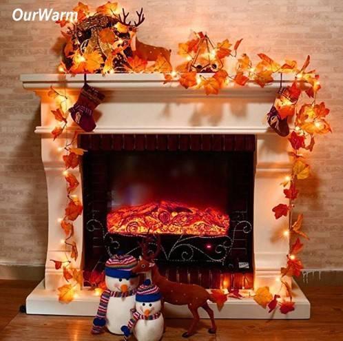 Осенняя гирлянда фото 2