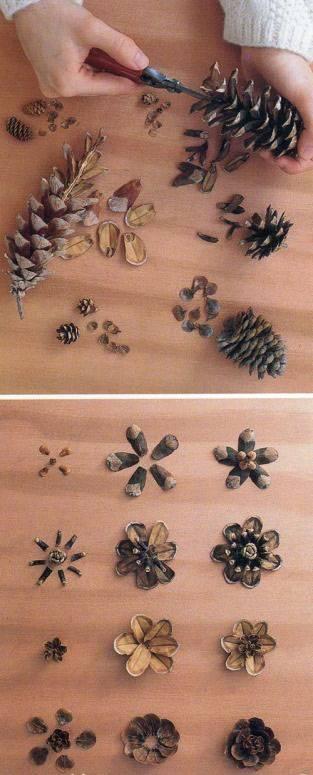 поделки из шишек фото 90