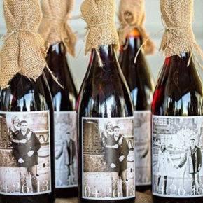 Свадебные бутылки фото 28