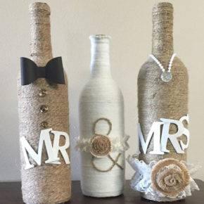 Свадебные бутылки фото 30