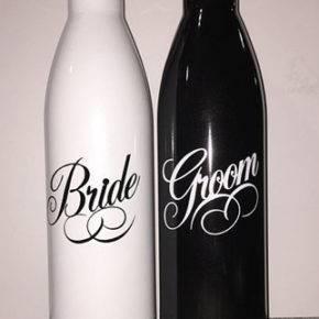 Свадебные бутылки фото 31