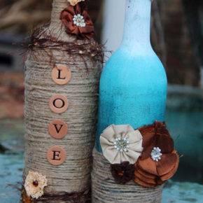 Свадебные бутылки фото 34