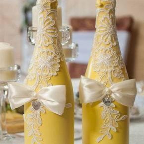 Свадебные бутылки фото 44