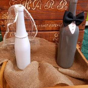 Свадебные бутылки фото 65