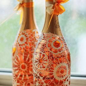 Свадебные бутылки фото 67
