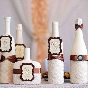 Свадебные бутылки фото 70
