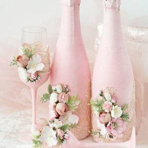 Свадебные бутылки фото 71