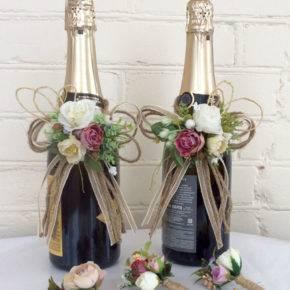 Свадебные бутылки фото 73