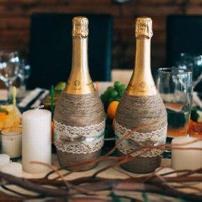 Свадебные бутылки фото 74