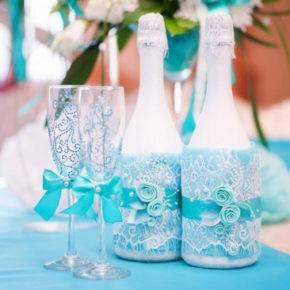 Свадебные бутылки фото 75