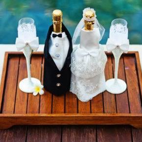Свадебные бутылки фото 76