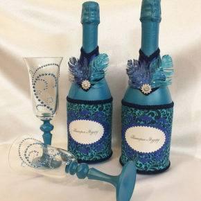 свадебные бутылки фото 500