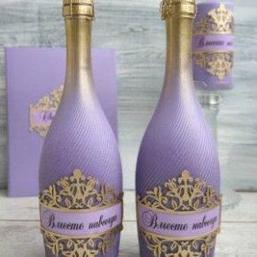 свадебные бутылки фото 510